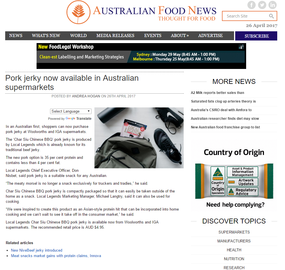 Australian Food News